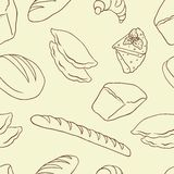 Vector background on the Bread theme Royalty Free Stock Image