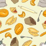 Vector background on the Bread theme Royalty Free Stock Photography
