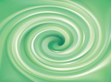 Vector background of bright green swirls Stock Photography