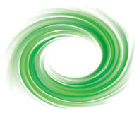 Vector background of bright green swirls Stock Images