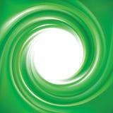 Vector background of bright green swirls Stock Photos