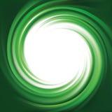 Vector background of bright green swirls Stock Image