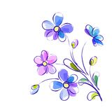 Vector background with bright violet flowers Stock Images