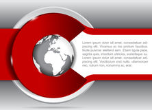 Vector background for brochure or flyer with a globe. Stock Photos