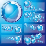 Vector background with bubbles Stock Images
