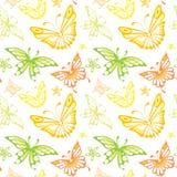 Vector background -- Butterflies Stock Photos