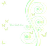 Vector background with butterfly Stock Photography