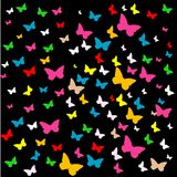 Vector background with butterfly Royalty Free Stock Images