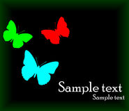 Vector background with butterfly Royalty Free Stock Photography