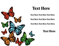 Vector background with butterfly Stock Photos