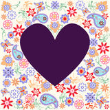Vector background with Butterfly and Flower - Illustration Royalty Free Stock Images