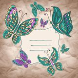 Vector background with butterfly Stock Image