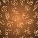 Vector background with of cake in retro style Stock Photo