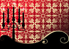 Vector background with a candelabra Stock Photography