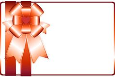 Vector background card with holiday ribbon.. Royalty Free Stock Photography