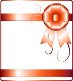 Vector background card with holiday ribbon.. Stock Images