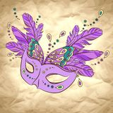 Vector background with carnival mask Royalty Free Stock Photos