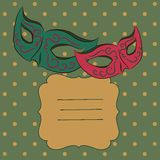 Vector background with carnival mask Stock Image