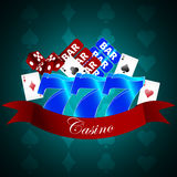 Vector background with casino gaming elements Stock Images
