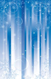 Vector background for Christmas. With snowflakes.Blue palette Royalty Free Stock Photo
