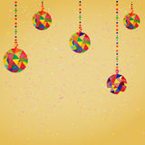 Vector Background with Christmas. Decoration Balls hipster style vector illustration