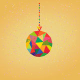 Vector Background with Christmas Decoration Balls. Hipster style royalty free illustration