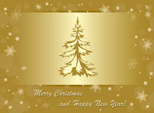 vector background - christmas & happy new year Royalty Free Stock Photo