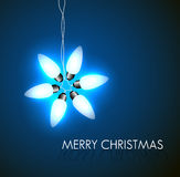Vector background with christmas star Stock Image