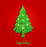 Vector background Christmas tree and balls Royalty Free Stock Image