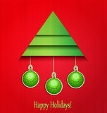 Vector background Christmas tree and balls Stock Photography