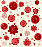 Vector background with circles. And swirls stock illustration