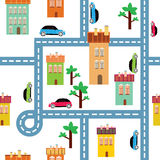 Vector background of the city Royalty Free Stock Photo