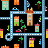 Vector background of the city Royalty Free Stock Image
