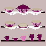 Vector background with ckrockery Royalty Free Stock Photos