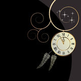 Vector background with a clock Stock Photography