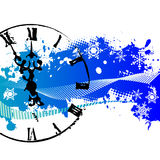 Vector background with a clock Royalty Free Stock Photos