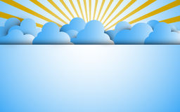 Vector background cloud and blue sky space template paper concept Royalty Free Stock Photo