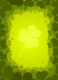 Vector background with clover Royalty Free Stock Photos