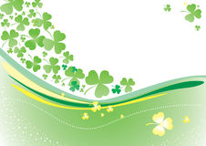 Vector background with clover leafs Stock Photography