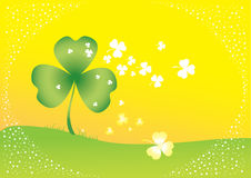 Vector background with clover leafs Stock Photo