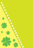 Vector background with clover leafs Royalty Free Stock Photos