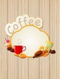 Coffee label Stock Photo