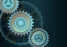 Vector background with cogs and gears. Technology concept Vector Illustration