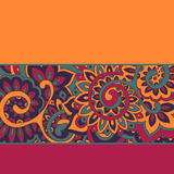 Vector background with color strips and floral pattern/ Stock Images