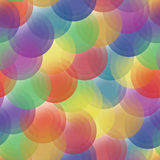 Vector background - color transparent circles Royalty Free Stock Images