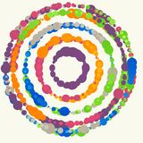 Vector background with colored dots. Stock Image
