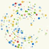Vector background with colored dots. Royalty Free Stock Photography