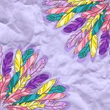 Vector background with colored feathers Royalty Free Stock Photography