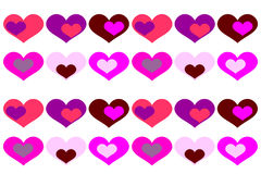 Vector background with colored hearts. Vector background with colored hearts on a white background Stock Photos
