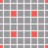 Vector background of colored mosaic. Gray and red squares with white border. Endless seamless pattern Royalty Free Stock Images